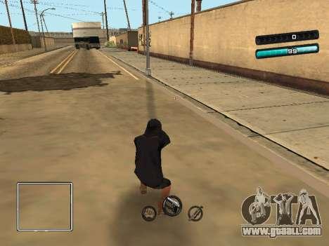 C-HUD Azure for GTA San Andreas third screenshot