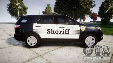 Ford Explorer 2013 County Sheriff [ELS] for GTA 4 left view