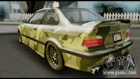 BMW M3 E36 Camo Drift for GTA San Andreas left view
