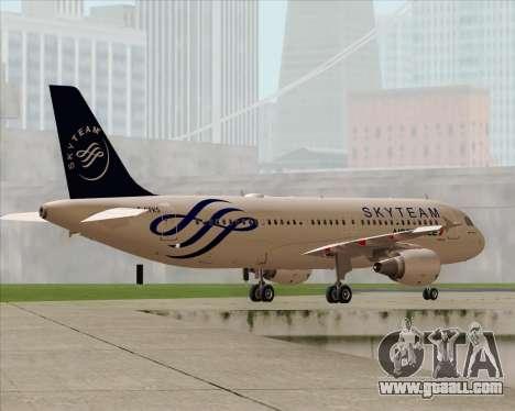 Airbus A320-200 Air France Skyteam Livery for GTA San Andreas engine