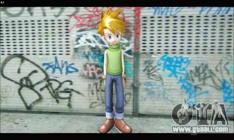 Yamato Ishida (Digimon) for GTA San Andreas third screenshot