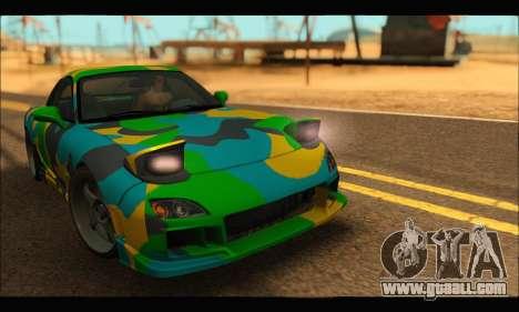 Mazda RX-7 Camo for GTA San Andreas