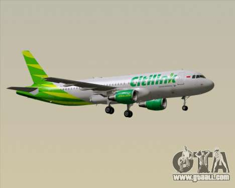 Airbus A320-200 Citilink for GTA San Andreas back left view