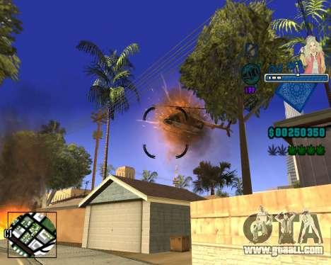 C-HUD Old Rifa for GTA San Andreas fifth screenshot