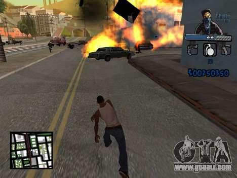 C-HUD Unique Ghetto for GTA San Andreas fifth screenshot