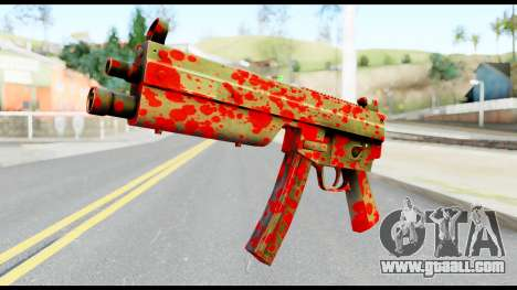 MP5 with Blood for GTA San Andreas