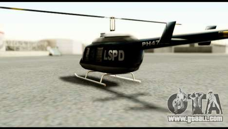 Beta Police Maverick for GTA San Andreas back left view