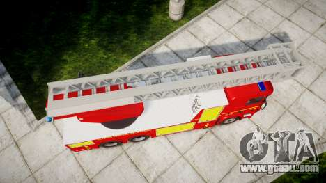 Scania R580 Paris Fireladder [ELS] for GTA 4 right view