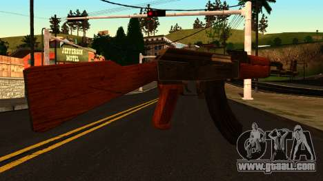 AK47 from GTA 4 for GTA San Andreas second screenshot