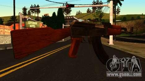 AK47 from GTA 4 for GTA San Andreas