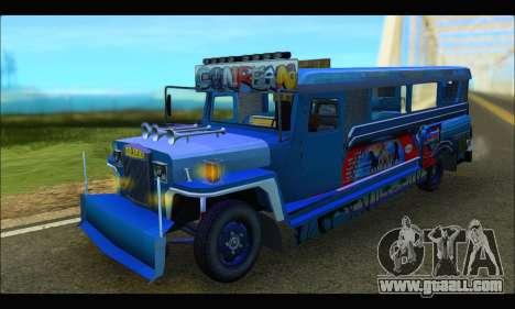 Jeepney Morales for GTA San Andreas