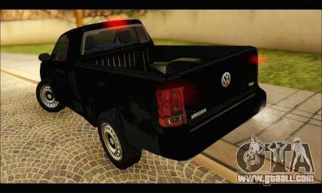 Volkswagen Amarok Cabina Simple for GTA San Andreas back left view