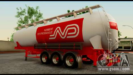 Mercedes-Benz Actros Trailer ND for GTA San Andreas back left view