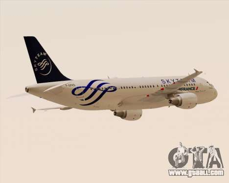 Airbus A320-200 Air France Skyteam Livery for GTA San Andreas back view