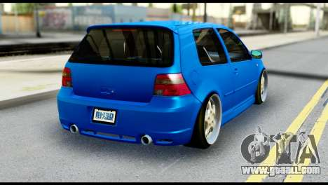 Volkswagen Golf MK4 R32 Stance v1.0 for GTA San Andreas left view