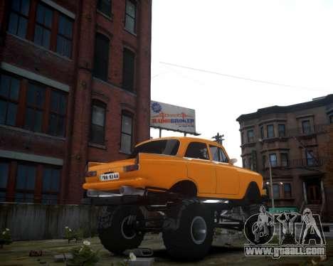 Moskvich 412 Monster for GTA 4 back left view