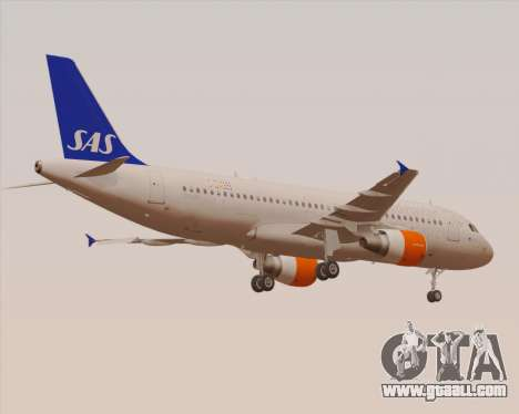 Airbus A320-200 Scandinavian Airlines - SAS for GTA San Andreas bottom view