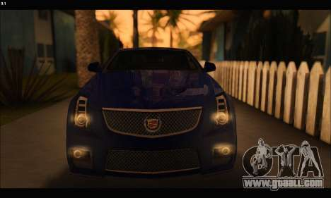 Cadillac CTS-V Coupe for GTA San Andreas inner view