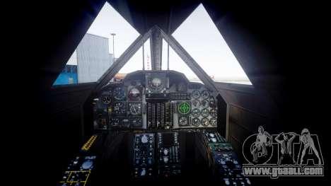 Lockheed SR-71 Blackbird for GTA 4 back left view
