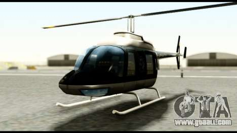 Beta Police Maverick for GTA San Andreas right view