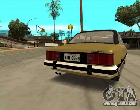 Chevrolet Opala 1980 for GTA San Andreas back left view