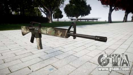 The M16A2 rifle woodland for GTA 4