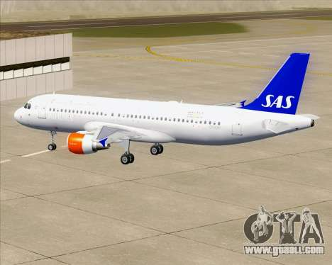 Airbus A320-200 Scandinavian Airlines - SAS for GTA San Andreas engine
