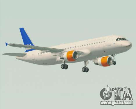 Airbus A320-200 Scandinavian Airlines - SAS for GTA San Andreas side view