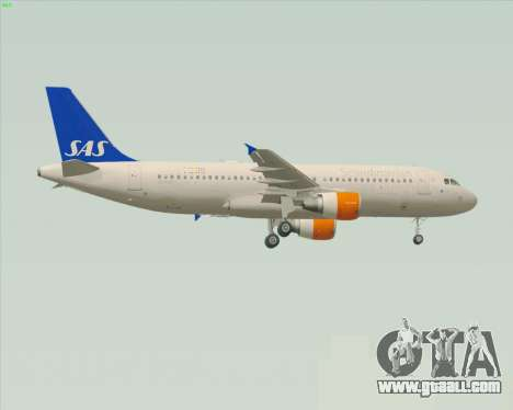 Airbus A320-200 Scandinavian Airlines - SAS for GTA San Andreas back left view
