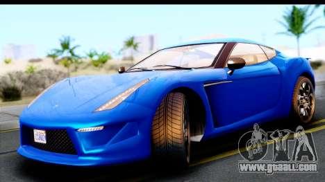 GTA 5 Grotti Carbonizzare v3 for GTA San Andreas back left view