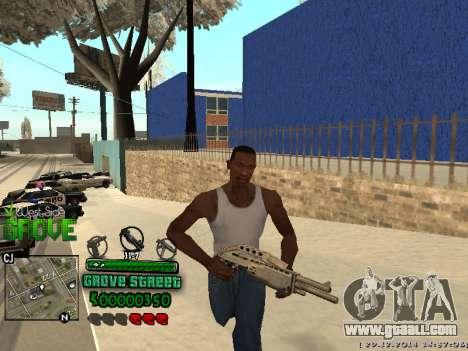 C-HUD Grove Street for GTA San Andreas second screenshot