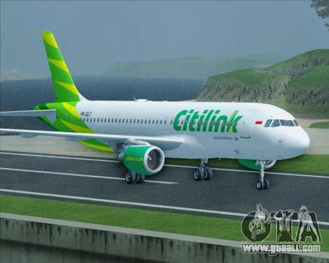 Airbus A320-200 Citilink for GTA San Andreas side view