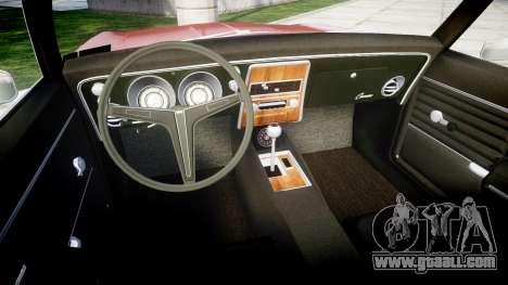 Chevrolet Camaro Mk.I 1968 rims1 for GTA 4 back view