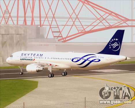 Airbus A320-200 Air France Skyteam Livery for GTA San Andreas inner view