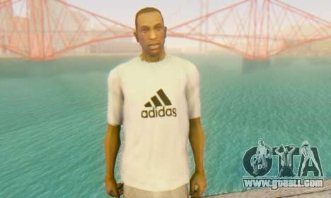 Adidas Shirt White for GTA San Andreas