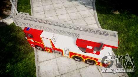 Scania R580 Marseille Fireladder [ELS] for GTA 4 right view