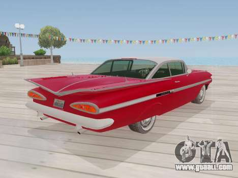 Chevrolet Impala 1959 for GTA San Andreas