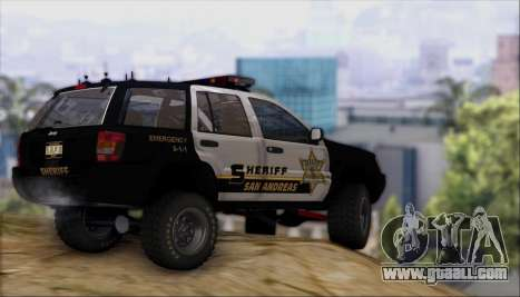 Jeep Grand Cherokee 1999 Sheriff for GTA San Andreas inner view