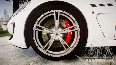 Maserati GranTurismo MC Stradale for GTA 4 back view