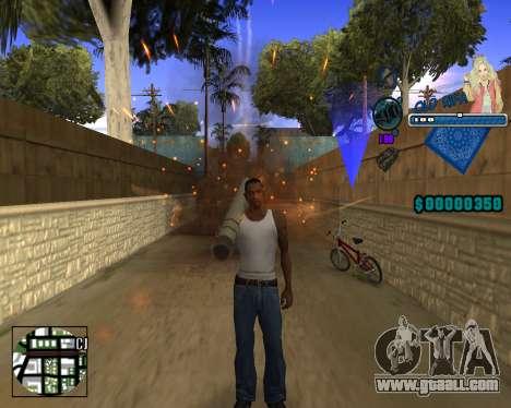 C-HUD Old Rifa for GTA San Andreas second screenshot