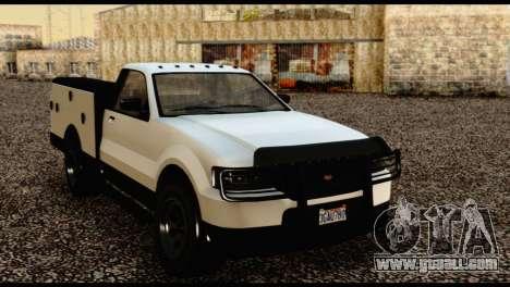 Utility Van from GTA 5 for GTA San Andreas back view