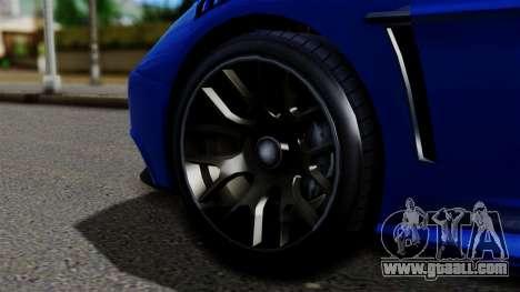 GTA 5 Dewbauchee Massacro Racecar for GTA San Andreas back left view