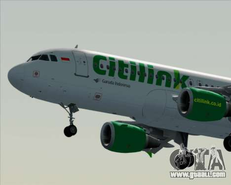 Airbus A320-200 Citilink for GTA San Andreas bottom view