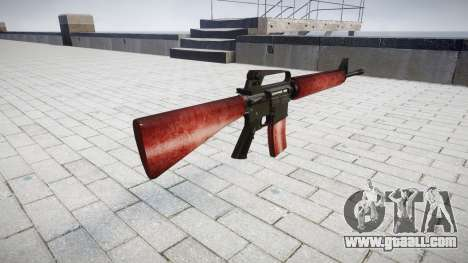 The M16A2 rifle red for GTA 4 second screenshot
