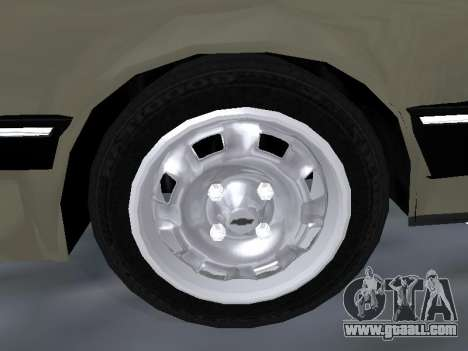 Chevrolet Chevette Hatch for GTA San Andreas bottom view