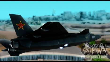 Chenyang J-20 BF4 for GTA San Andreas back left view