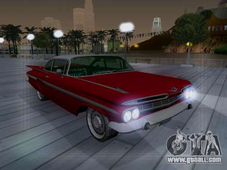 Chevrolet Impala 1959 for GTA San Andreas side view
