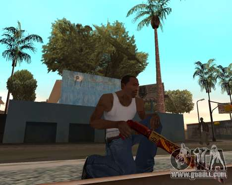 New year's weapon pack v2 for GTA San Andreas forth screenshot