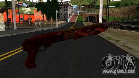 Christmas Combat Shotgun for GTA San Andreas second screenshot