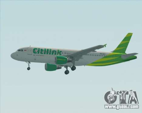Airbus A320-200 Citilink for GTA San Andreas upper view
